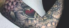 50 Claddagh Tattoo Designs For Men - Irish Icon Ink Ideas Couple Tattoos, Leg Tattoos, Tattoos For Guys, Sleeve Tattoos, Arm Tattoo, Claddagh Tattoo, Harley Davidson Tattoos, Irish Symbols, Bottle Tattoo