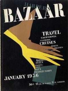 Alexey Brodovitch, Harper's Bazaar, January 1936 #stencil @studio_sparrowh   via @wayneford