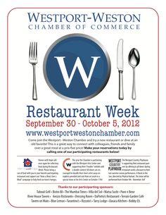 Food Drives, Doodle Contests, + More @ Westport + Weston Restaurant Week