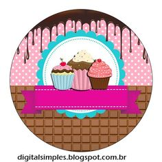 Cupcake Logo, Cupcake Vector, Cupcake Party, Candyland, Logo Dulce, Watermark Ideas, Clock Wallpaper, Ice Cream Logo, Baking Logo