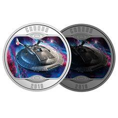 2018 $10 Star TrekTM: Enterprise NX - 01 - Pure Silver Coin