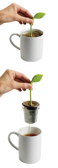 Tea Leaf Infuser // so sweet! #product_design