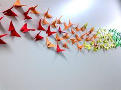 Origami Butterfly Party Rainbow Wall Rainbows