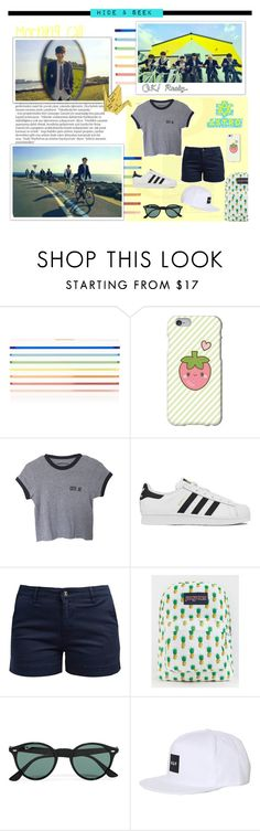 """""""Hide & Seek ~"""" by coupsmin ❤ liked on Polyvore featuring Mary Katrantzou, Balmain, Samsung, adidas, Barbour, JanSport, Ray-Ban, HUF, women's clothing and women"""