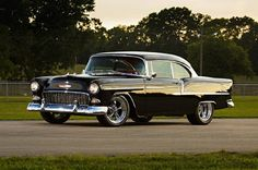 2 1955 Chevy Bel Air Side