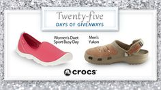 Its day 24 of our #25DaysofGiveaways – just 1 day left!  From the classic clog to boat-shoe and huarache-inspired looks, Crocs has a style for you! Add a Crocs style to your collection here.