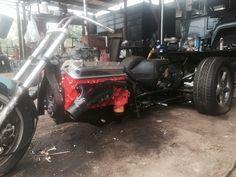 V8 trike, air ride IRS, direct drive TH350