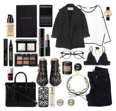 """""""Touch"""" by angie-5soslm ❤ liked on Polyvore featuring Chicnova Fashion, EF Collection, Nixon, Chloé, True Religion, BaubleBar, Monki, Smythson, Yves Saint Laurent and Burberry"""
