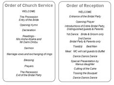 Orchid Wedding Program Examples-Wedding Program Wording-Wedding ...