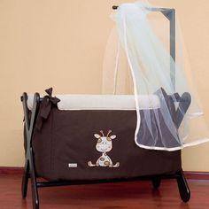 mini cuna para bebe bambineto moises portatil jirafita cafe