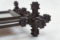 Interesting PUZZLE Frame | From a unique collection of antique and modern picture frames at https://www.1stdibs.com/furniture/decorative-objects/picture-frames/
