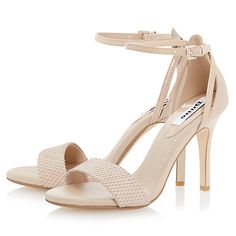 Buy Dune Madeira Ankle Strap Suede Sandals, Nude Online at johnlewis.com