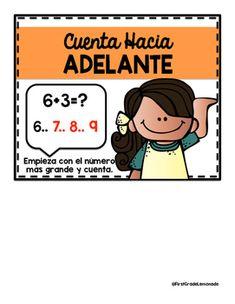 Math Strategies Posters SPANISH Version by First Grade Lemonade | Teachers Pay Teachers Math Strategies Posters, Teacher Pay Teachers, Teacher Newsletter, First Grade, Lemonade, Kindergarten, Spanish, Teaching, Education