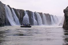 Hogenakkal water Falls >>>  This place is also famous for the Coracle Rides which operate only in seasons as in water currents will be high in monsoon, also one can opt for oil massages on the shore of river bed which can give you high relaxations.  #trekking #treks #Hogenakkal #waterFalls