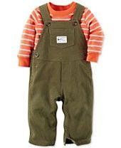 Carter's Baby Boys' Striped Shirt & Overalls Set