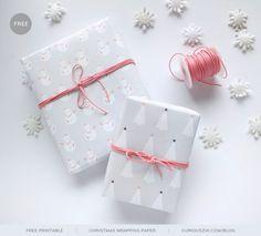 Imprimible papel de regalo Navidad >> Free Printable: Christmas wrapping…