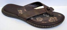 BORN B.O.C. Brown Thong Sandal Size 42/US 10 BC6312 #Born #FlipFlops