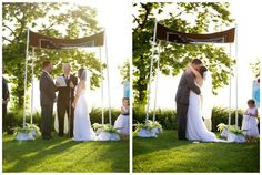 traditional chuppah for a beach wedding