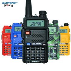 Baofeng uv-5rトランシーバープロフェッショナルcbラジオbaofeng uv5rトランシーバ128ch 5ワットvhf & uhfハンドヘルドuv 5r用狩猟ラジオ