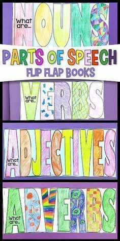 Parts of Speech F.U.N. Flip Flap Books!  Nouns, Verbs, Adjectives, & Adverbs #flipflapbook #2ndgrade #languagearts  #spelling   Simply Skilled in Second