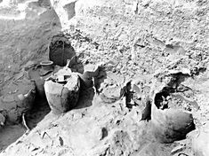 The Walls of Jericho....Jars full of grain found during excavations of what could be Jericho. They were charred in the fire that the Israelites set to destroy the Canaanite city.