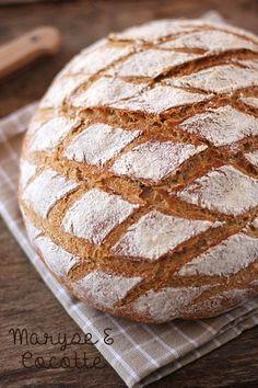 Pain à l'Epeautre cuit en Cocotte – Maryse & Cocotte Yummy World, Patisserie Sans Gluten, Bun In The Oven, Easy Bread, Base, Sourdough Bread, Croissant, Charcuterie, Bread Baking