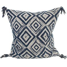 Swazi indigo 20s cotton cushion 55x55cm