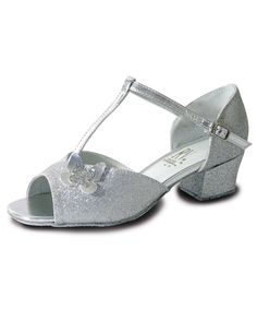 d0fa2f226 Roch Valley Carrie Girls Ballroom Shoe From These adorable girls ballroom  shoe are made with silver glitter PU and feature a T-Bar strap
