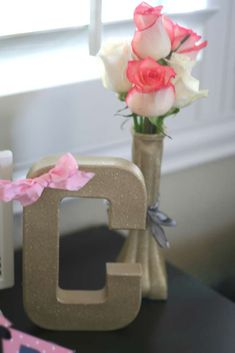 Sugar and spice baby shower party decorations! See more party planning ideas at CatchMyParty.com!