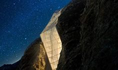 Designer Andrii Rozhko created Hotel in Alps, a conceptual design for dazzling lodging on an Alps mountaintop. Swiss Alps Hotel, Alpine Hotel, Concept Architecture, Amazing Architecture, Architecture Design, Architectural Engineering, Architectural Section, Cliff Hotel, Elite Hotels