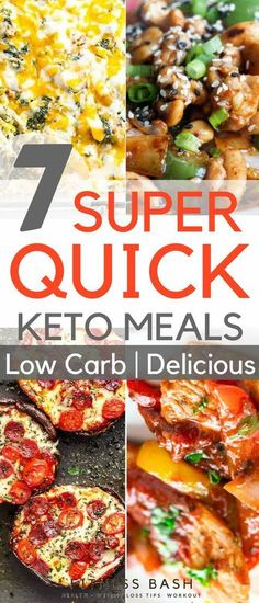 Quick keto meals and easy dinners for a ketogenic diet. Simple quick keto meals to make under 30 minutes for families.