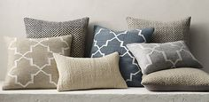 Moroccan Tile Flatweave and Ceta Pillow Collection | RH