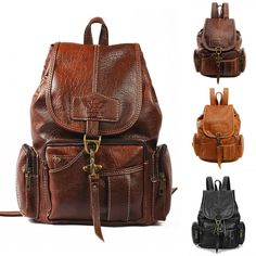 Ladies PU Leather Backpack Shoulder Satchel Vintage class Travel Bag R…: Item details Condition: Brand new with… #Travelgoods #backpack
