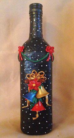 Christmas Altered BottleMixed Media ArtChristmas Bells3D image 4
