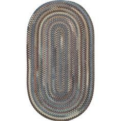 Mason Braided Oval Area Rug, Multicolor