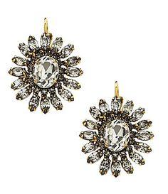 Belle Badgley Mischka Rhinestone Stud Earrings Dillards