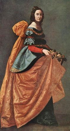 """""""Saint Casilda of Burgos"""" by Francisco de Zurbarán (1598-1664) - """"He worked for churches & monasteries over a wide area of southern Spain and his paintings were also exported to South America. His simple compositions & emotionally direct altarpieces, combining austere naturalism with mystical intensity, made him an ideal Counter-Reformation painter."""""""