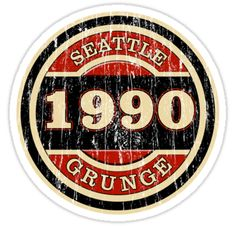 Seattle Grunge Sticker Stickers featuring millions of original designs created by independent artists. Clock Face Printable, Seattle, Punk Poster, Grunge Art, Black Grunge, Tumblr Stickers, Mac Stickers, New T Shirt Design, Pochette Album