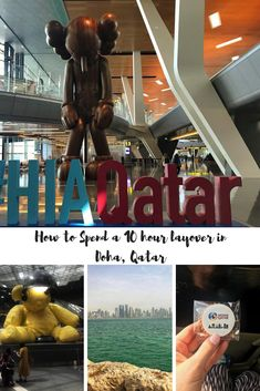 If you have a long stop over in Doha there's no need to dread the airport layover. Doha has transformed itself as the perfect stop over for the international traveller. Let me show you how to spend a 8-10hour lay over in the AHIA Qatar #airport #longdistancetravel #airportstopover #Qatar #doha Qatar Travel, Iran Travel, Asia Travel, Middle East Destinations, Travel Destinations, Amazing Destinations, Travel Guides, Travel Tips, Travel Hacks