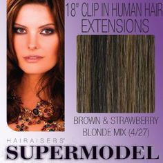 "18"" Clip In Human Hair Extensions Colour"