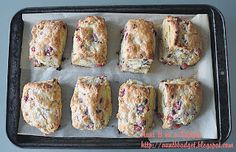 Aunt B on a Budget: Orange and Cranberry Scones