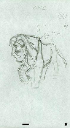 """Simba: arte conceitual / """"O Rei Leão""""   © Disney"""