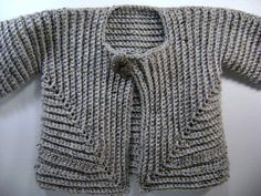 Crochet Baby Surprise Jacket  extra large in Grey by BellesPlace, $29.00