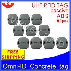 UHF RFID Concrete tag omni-ID 915m 868m Impinj Monza4QT 50pcs free shipping durable ABS smart card passive RFID beton tags