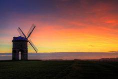 Chesterton windmill (17th century) at sunset