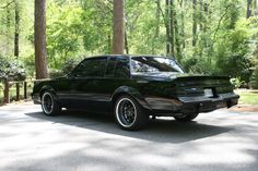 Exterior driver side rear 3/4 of my 1986 Buick Grand National.