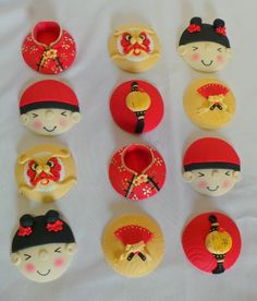 Chinese New Years Cupcake Toppers