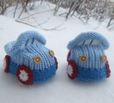 Knitting pattern for Car Baby Booties