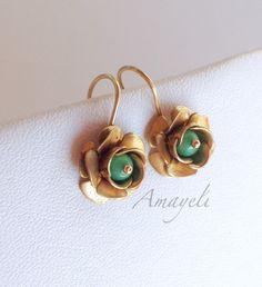 A personal favorite from my Etsy shop https://www.etsy.com/listing/255554084/flower-earrings-turquoise-earrings
