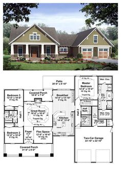 Beautiful Bungalow Style COOL House Plan ID: Chp 37255 | Total Living Area: 2067